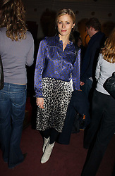 LAURA BAILEY at the Grand Classics screening of Manhattan hosted by Giles Deacon at the Electric Cinema, Portobello Road, London W11 on 13th November 2006.<br />