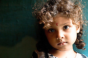 India. Child at Nagapattinam, Tamil Nadu State.