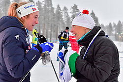 SKARSTEIN Birgit, NOR, LW11, ESKAU Andrea, GER at the 2018 ParaNordic World Cup Vuokatti in Finland