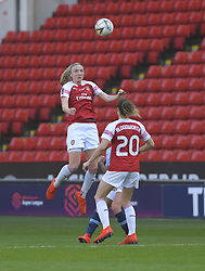 February 23, 2019 - Sheffield, England, United Kingdom - Arsenal first to a goal kick during the  FA Women's Continental League Cup Final  between Arsenal and Manchester City Women at the Bramall Lane Football Ground, Sheffield United FC Sheffield, Saturday 23rd February. (Credit Image: © Action Foto Sport/NurPhoto via ZUMA Press)