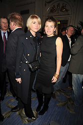Left to right, LADY EMILY COMPTON and AMBER AITKENS at the 2009 Tatler Restaurant Awards in association with Champagne Louis Roederer held at the Mandarin Oriental Hyde Park, 66 Knightsbridge, London SW1 on 19th January 2009.