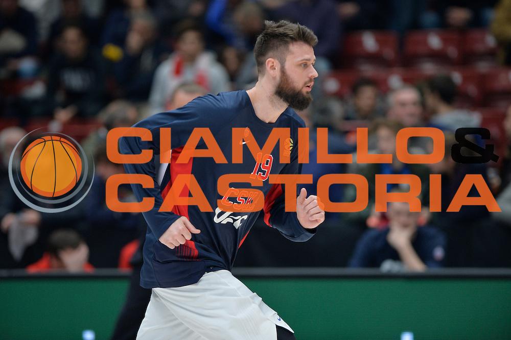 Freeland Joel<br /> Olimpia EA7 Emporio Armani Milano vs Cska Moscow<br /> Euroleague 2016/2017<br /> Milano 08/12/2016<br /> Foto Ciamillo-Castoria