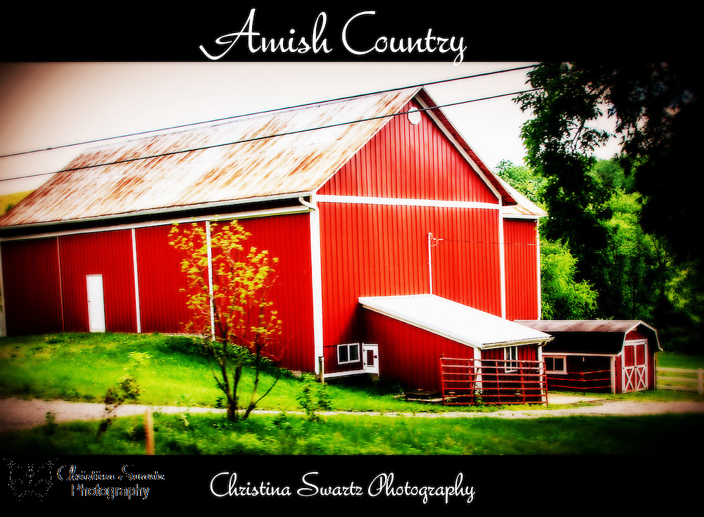 Red Barn in amish country image for sale
