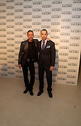 Patrick Cox and David Furnish, M.A.C. Viva glam V lipstick launch dinner, profits go to the MAC Aids fund,   Hempel Garden. ONE TIME USE ONLY - DO NOT ARCHIVE  © Copyright Photograph by Dafydd Jones 66 Stockwell Park Rd. London SW9 0DA Tel 020 7733 0108 www.dafjones.com