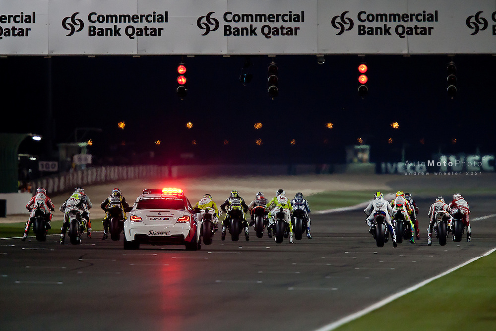 2011 MotoGP World Championship, Round 1, Losail, Qatar, 20 March 2011, MotoGP Race Start