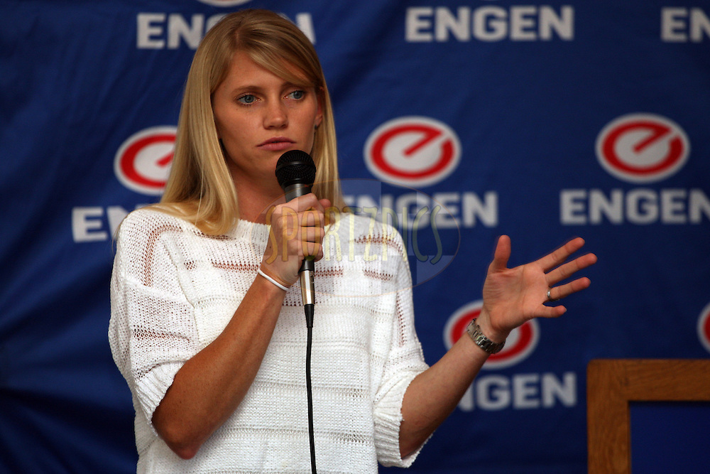 Kerryn Gibson during the Engen Coach The Coach Workshop held at the Engen Refinery Sport Complex in Durban, South Africa, on 9 and 10 October 2012. Photo by Jacques Rossouw/SPORTZPICS