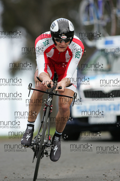 (Geelong, Australia---30 September 2010) Jaroslaw MARYCZ of Poland (POL) racing to 39th place in the Elite Men's Time Trial race at the 2010 UCI Road World Championships [2010 Copyright Sean Burges / Mundo Sport Images -- www.mundosportimages.com]