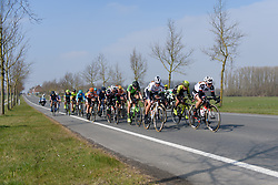 Chantal Blaak (NED) and Leah Kirchmann (CAN) head the lead group at Gent Wevelgem Elite Women 2018 - a 143 km road race from Ieper to Wevelgem on March 25, 2018. Photo by Sean Robinson/Velofocus.com