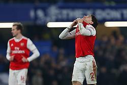 Hector Bellerin of Arsenal celebrates scoring to make it 2-2 - Mandatory by-line: Arron Gent/JMP - 21/01/2020 - FOOTBALL - Stamford Bridge - London, England - Chelsea v Arsenal - Premier League