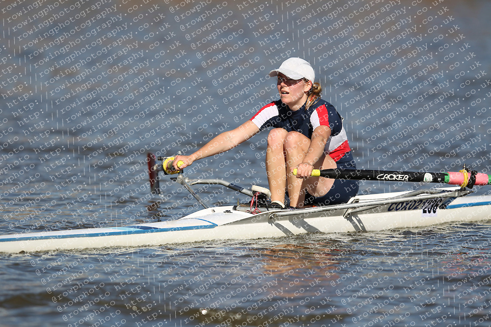 29.09.2012. Wallingford Long Distance Sculls 2012, The River Thames. Division 1. W.IM2 1x. City of Oxford Rowing Club.