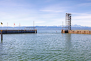 Observation tower, Friedrichshafen, Lake Constance, Baden-Wurttemberg, Germany.