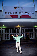 Cory Silken's photography exhibition, Color of Wind, presented by Bacardi. The show ran from March 7-13, 2010 in the Coconut Grove Expo Center, during the Bacardi Miami Sailing Week regatta. Photo courtesy Suki Finnerty.