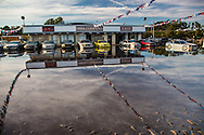 A car dealership on Lumberton NC  as the water goes down.