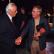 Uitreiking Nipkowschijf 2003, Spijkers met Koppen, Leen Timp, 1e Nipkowschijf winnaar en Jack Spijkerman