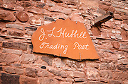 Entrance sign at Hubbell Trading Post National Historic Site, Arizona USA