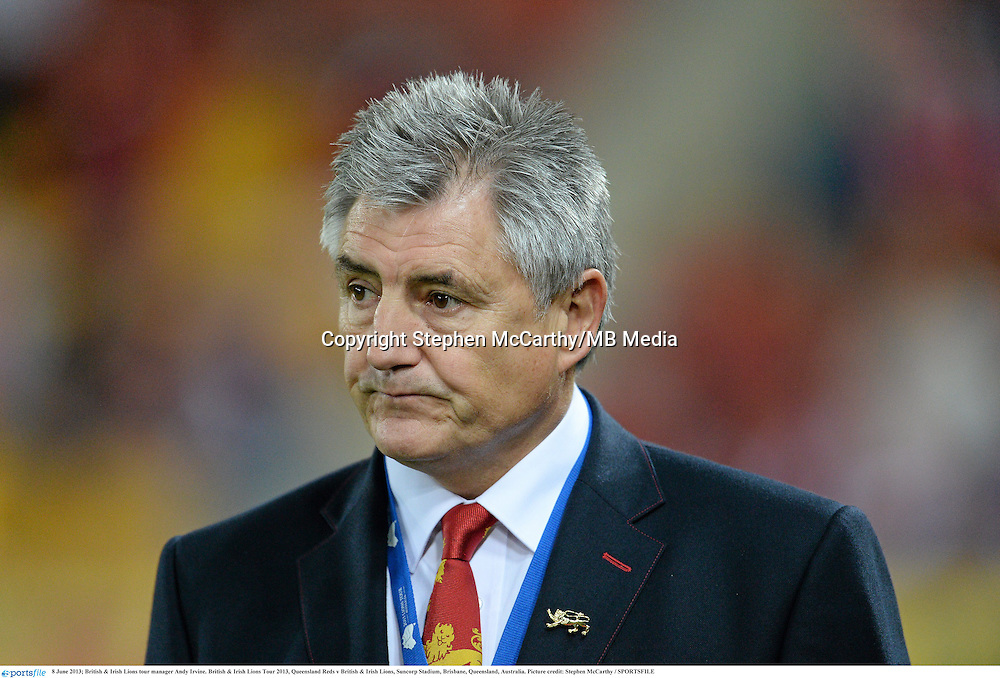 8 June 2013; British & Irish Lions tour manager Andy Irvine. British & Irish Lions Tour 2013, Queensland Reds v British & Irish Lions, Suncorp Stadium, Brisbane, Queensland, Australia. Picture credit: Stephen McCarthy / SPORTSFILE