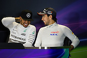 October 8-11, 2015: Russian GP 2015: Sergio Perez (MEX), Force India, Lewis Hamilton (GBR), Mercedes