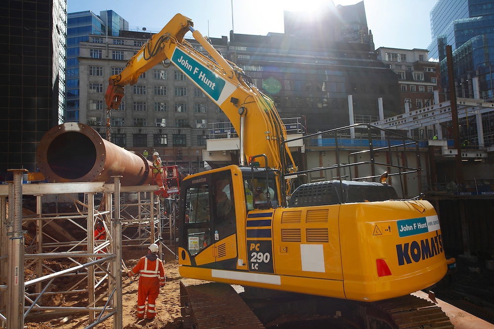 Directors portraits shoot at John F Hunt Demolition. London & Grays Office. February 2016JFH Demolition site at 10 Fenchurch Avenue in the City of London. John F Hunt Demolition. March 2016Installation of large diameter temporary tubes that support the secant walls whilst the exaction process continues beneath. JFH have 42,000m3 of material to remove.  JFH Demolition site at 10 Fenchurch Avenue in the City of London. John F Hunt Demolition. March 2016