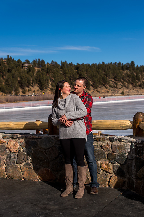 EVERGREEN, CO - JANUARY 25: Engagement of Rachel Ritter and Jeff Oline at Elk Meadow Park on January 25, 2020, in Evergreen, Colorado. (Photo by Anya Semenoff/A&D Creative)
