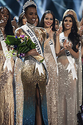 December 8, 2019, Atlanta, Georgia, USA: Zozibini Tunzi, Miss South Africa 2019 is crowned Miss Universe at the conclusion of The MISS UNIVERSE® Competition on FOX at 7:00 PM ET on Sunday, December 8, 2019 live from Tyler Perry Studios in Atlanta. The new winner will move to New York City where she will live during her reign and become a spokesperson for various causes alongside The Miss Universe Organization. PATRICK PRATHER/HO/PI (Credit Image: © Prensa Internacional via ZUMA Wire)