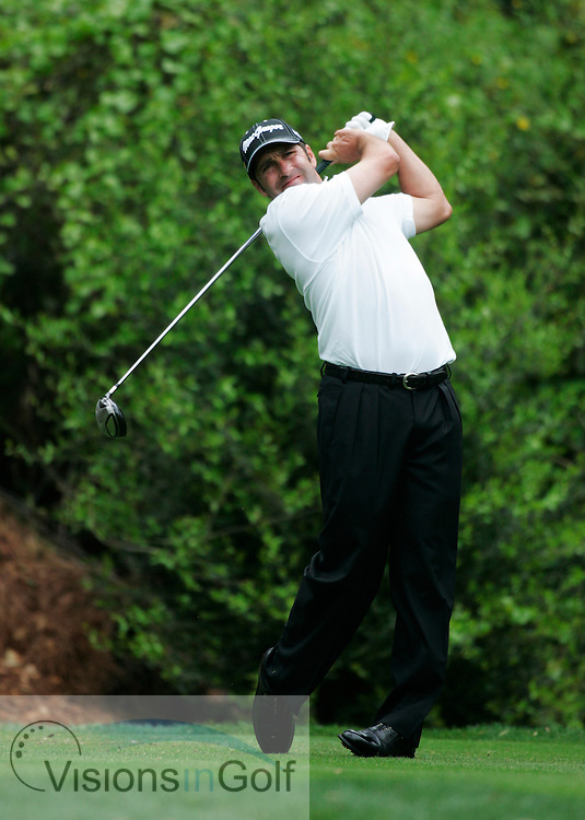 Jose Maria Olazabal at impact on the 11th tee with driver<br /> THE PLAYERS Championship at TPC Sawgrass, Stadium GC, Ponte Vedra, Jacksonville, Florida USA. 23rd March 2006<br /> <br /> Picture Credit:   Mark Newcombe / visionsingolf.com