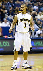 January 9, 2010; Berkeley, CA, USA;  California Golden Bears guard Jerome Randle (3) during the second half against the Southern California Trojans at the Haas Pavilion.  California defeated USC 67-59.