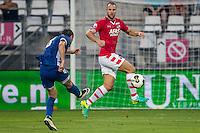 ALKMAAR - 25-08-2016, AZ - Vojvodina, AFAS Stadion, 0-0, Vojvodina speler Puskaric Darko, AZ speler Ron Vlaar