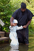 Traditional African american baptisms at Moon Lake Mississippi.(Photo/&copy; Suzi Altman) Description/Caption:<br />