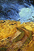 Crows Over Wheatfield' 1890 (detail). Oil on Canvas.  Vincent Van Gogh (1853-1890) Dutch Post-Impressionist artist.
