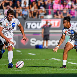 Jandre Marais and Ulupano Seuteni of Bordeaux during Top 14 match between Stade Francais and Union Bordeaux Begles on September 1, 2018 in Paris, France. (Photo by Aude Alcover/Icon Sport)
