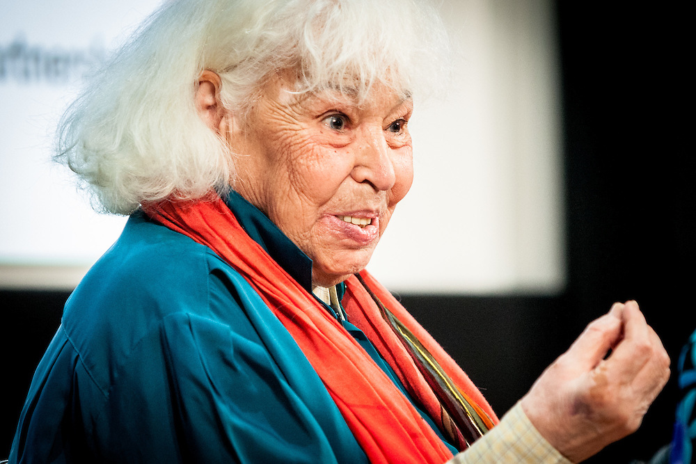 """Nawal El Saadawi is an Egyptian feminist writer, activist, physician, and psychiatrist. She has written many books on the subject of women in Islam, paying particular attention to the practice of female genital mutilation in her society. She has been described as """"the Simone de Beauvoir of the Arab World"""". London, 2nd July 2016. (Photos/Ivan Gonzalez)"""