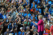 Democratic presidential nominee Hillary Clinton arrives for a campaign kickoff rally after the Democratic National Convention in Philadelphia July 29, 2016.  REUTERS/Rick Wilking