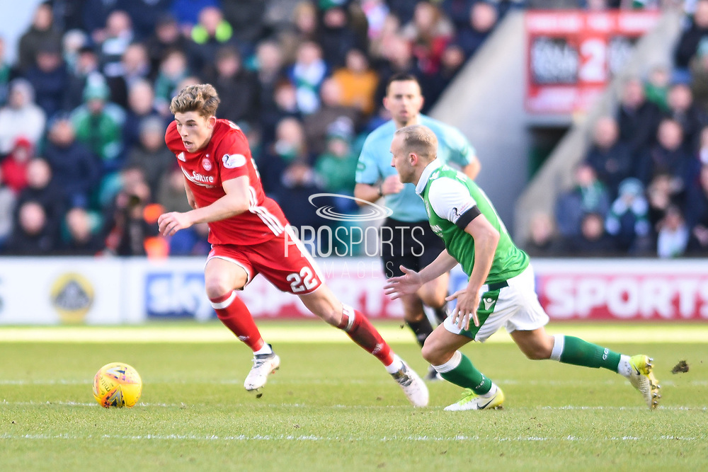 Ryan Christie on the ball during the Ladbrokes Scottish Premiership match between Hibernian and Aberdeen at Easter Road, Edinburgh, Scotland on 17 February 2018. Picture by Kevin Murray.