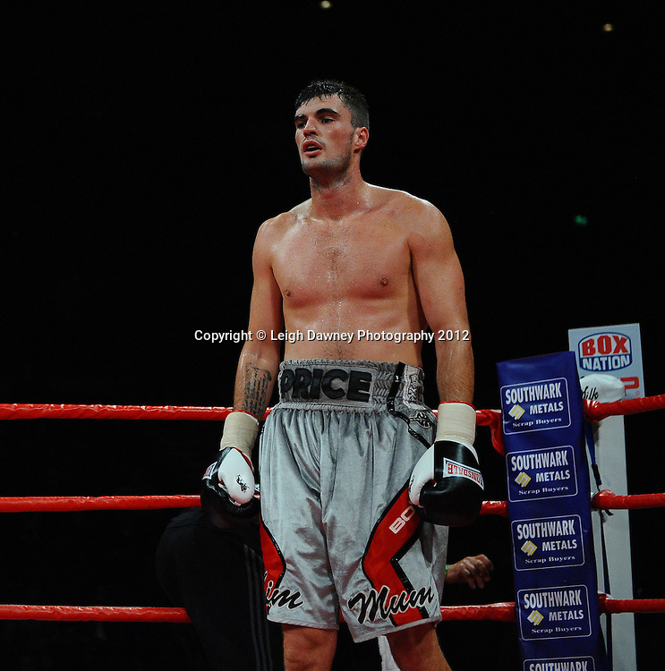 Danny Price defeats Hari Miles in a Cruiserweight contest at the Echo Arena, Liverpool on 13th October 2012. Frank Maloney Promotions © Leigh Dawney Photography 2012.