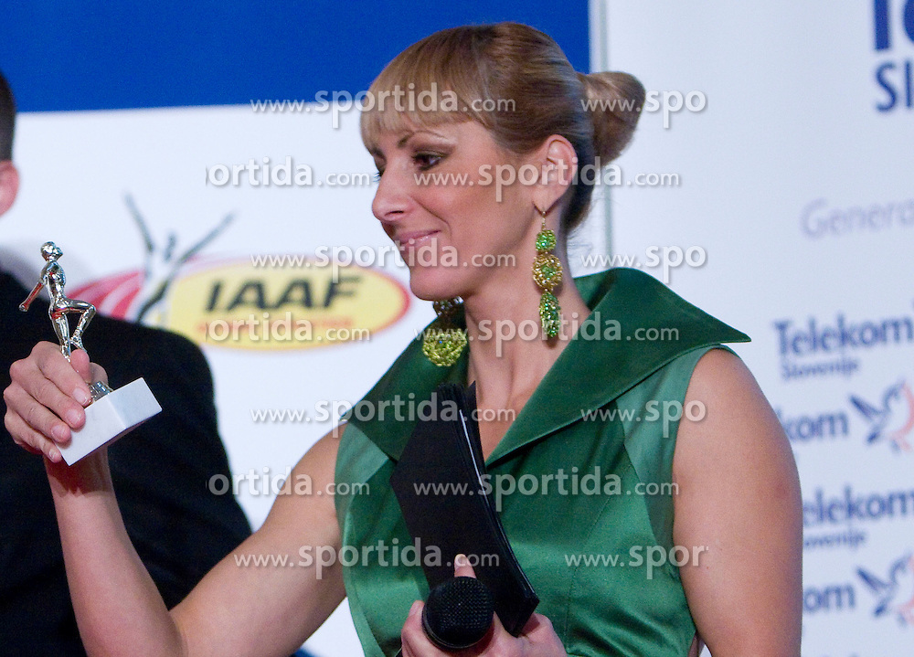 Urban Acman and Alenka Bikar at Best Slovenian athlete of the year ceremony, on November 15, 2008 in Hotel Lev, Ljubljana, Slovenia. (Photo by Vid Ponikvar / Sportida)