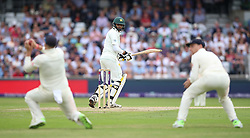 England's Joe Root takes the catch of Pakistan's Mohammad Abbas to seal victory during day three of the Second NatWest Test match at Headingley, Leeds.