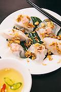 White rose dumplings at Bong Hang Tran. Hoi An, Vietnam
