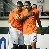Fotball<br /> UEFA U21 Championships<br /> 10.06.2007<br /> Nederland v Israel 1-0<br /> Foto: ProShots/Digitalsport<br /> NORWAY ONLY<br /> <br /> hedwiges maduro scoort de 1-0 en viert feest met ryan babel