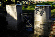 France, Thu 9 Dec. 2010: The entrance to Brewery Orchard Cemetery in Bois Grenier. The cemetery contains the graves of 201 British, 125 Australian, 13 New Zealand and 5 German soldiers from the First World War.