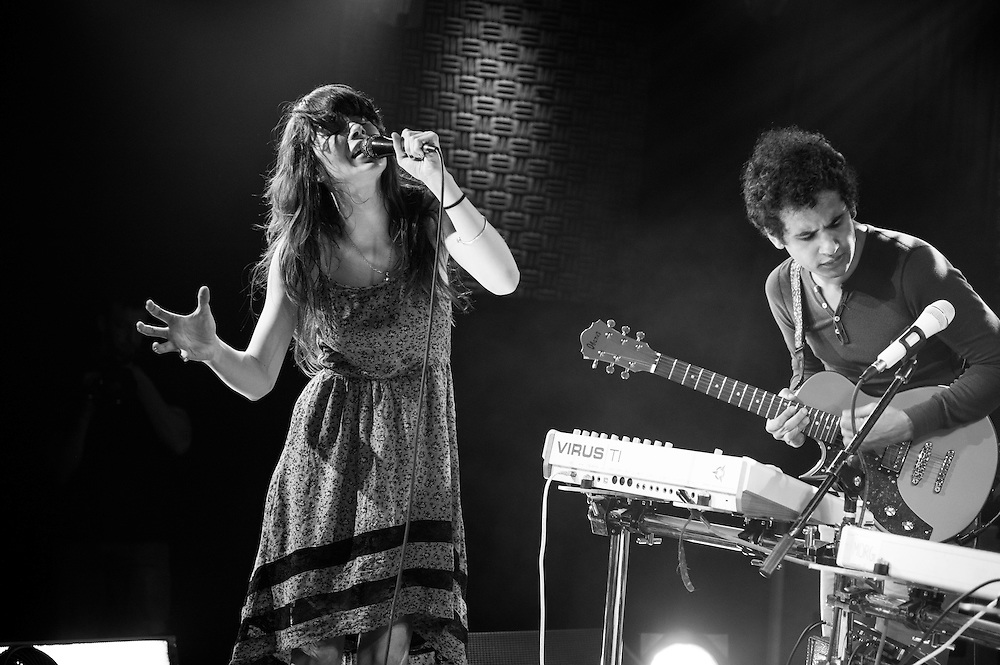 Teri Gender Bender and Omar Rodriguez-Lopez of Bosnian Rainbows