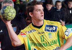 Vasja Furlan at 15th round of Slovenian Handball MIK 1st league match between RD Slovan and RK Celje Pivovarna Lasko, on February 6, 2009, in Kodeljevo, Ljubljana, Slovenia. Win of RK Slovan 18:17. (Photo by Vid Ponikvar / Sportida)