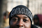 Attendees waits along Pennsylvania Avenue for Barack Obama's inauguration.