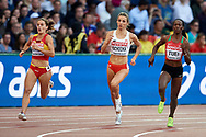 Great Britain, London - 2017 August 10: (C) Angelika Cichocka (SKLA Sopot) of Poland competes in women's 800 meters qualification during IAAF World Championships London 2017 Day 7 at London Stadium on August 10, 2017 in London, Great Britain.<br /> <br /> Mandatory credit:<br /> Photo by © Adam Nurkiewicz<br /> <br /> Adam Nurkiewicz declares that he has no rights to the image of people at the photographs of his authorship.<br /> <br /> Picture also available in RAW (NEF) or TIFF format on special request.<br /> <br /> Any editorial, commercial or promotional use requires written permission from the author of image.
