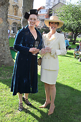 Left to right, SHARON MARSHALL and LORRAINE CHASE at The Lady Taverners 25th Anniversary Westminster Abbey Garden Party held in The College Gardens, Westminster Abbey, London o 11th July 2012.
