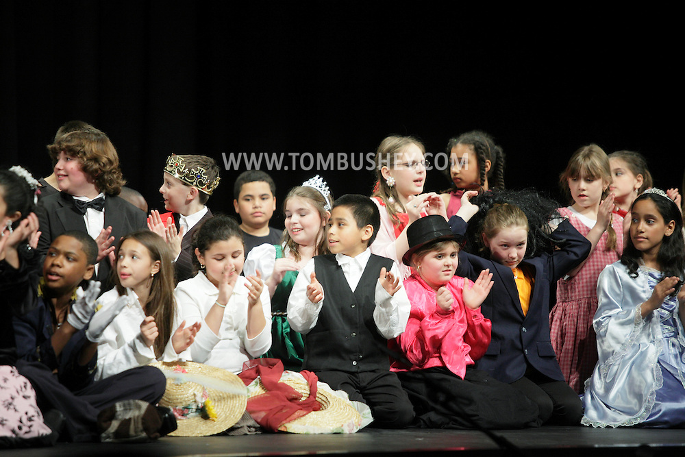 "Middletown, N.Y.  - Mechanicstown Elementary School students perform the play ""The Glass Slipper"" on stage at Middletown High School on May 7, 2009."