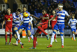 Bengadli-Fode Koita of Blackburn Rovers las minuet attack is defended by Michael Hector of Reading - Mandatory byline: Jason Brown/JMP - 07966 386802 - 20/12/2015- FOOTBALL - Madejski Stadium - Reading, England - Reading v Blackburn Rovers - Sky Bet Championship