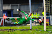 Goal for Eastleigh - Bolton Wanderers Ben Amos is beaten during the The FA Cup third round match between Eastleigh and Bolton Wanderers at Silverlake Stadium, Ten Acres, Eastleigh, United Kingdom on 9 January 2016. Photo by Graham Hunt.