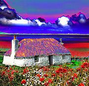 Thatched croft, Uist