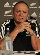 Graham Henry answers a question during the All Black Squad announcement for the 2011 Rugby World Cup in Brisbane (Australia) on Tuesday 23rd August 2011 ~ Photo : Steven Hight (AURA Images) / Photosport
