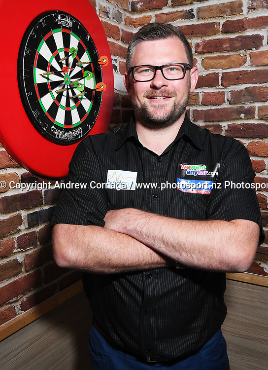England's James Wade aka &quot;the machine&quot;<br /> Auckland Darts Masters press conference and draw. Professional Darts Corporation (PDC). Burger King, Auckland, New Zealand. Thursday 10 August 2017. &copy; Copyright photo: Andrew Cornaga / www.photosport.nz